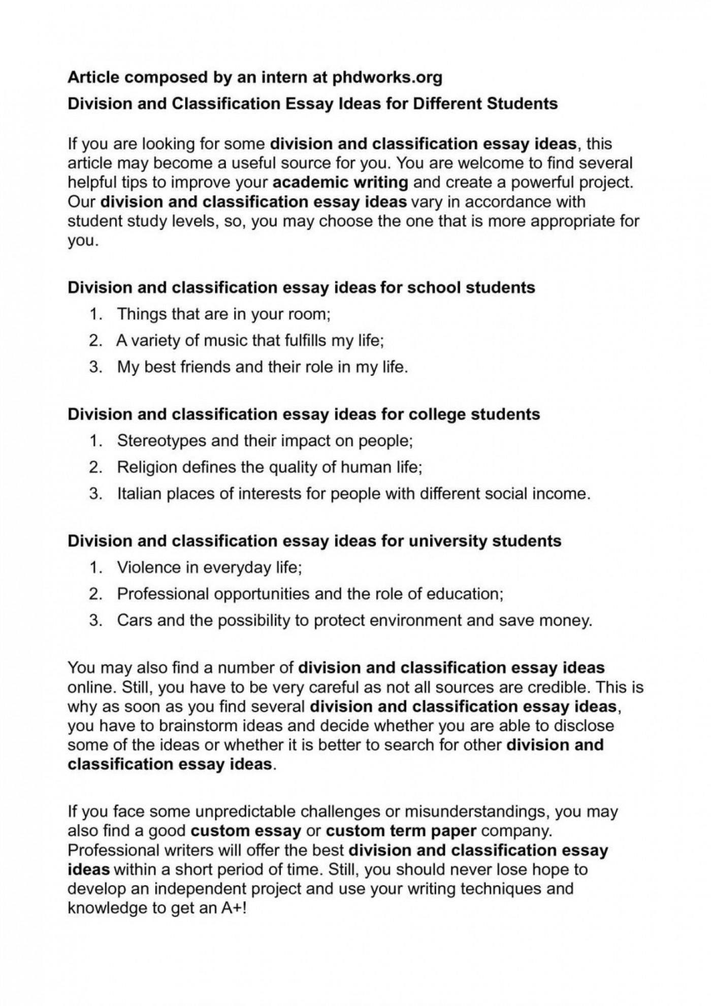 classification essay about friends