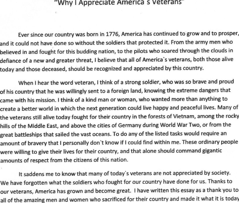 002 Essay About Veteransmorial Day Academic Examples Patriots Pen Example Whatans To Top What Memorial Means Me Contest Full