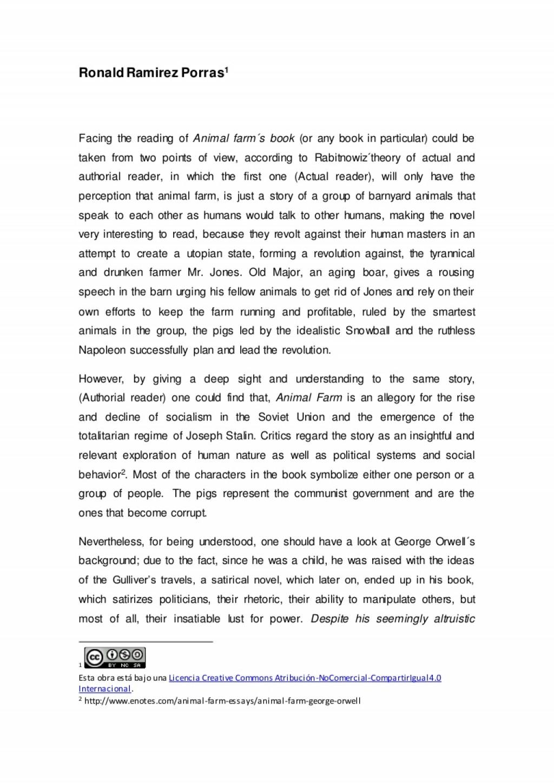 002 Essay Animalfarm Thumbnail Animal Farm Striking Propaganda Conclusion Introduction Large