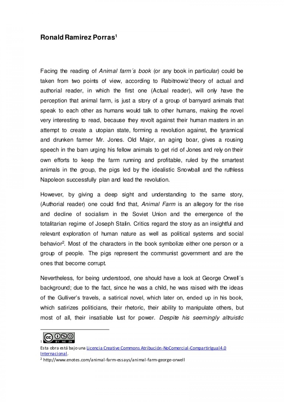 002 Essay Animalfarm Thumbnail Animal Farm Striking Propaganda Conclusion Introduction 1920