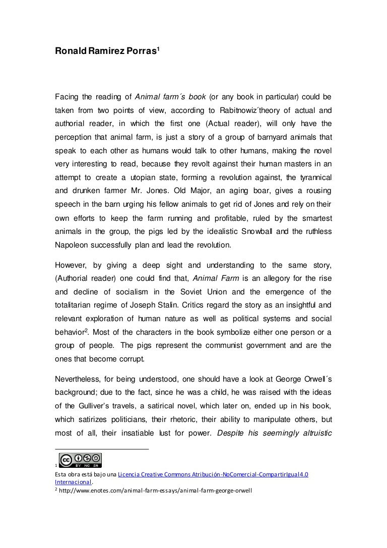 002 Essay Animalfarm Thumbnail Animal Farm Striking Propaganda Conclusion Introduction Full