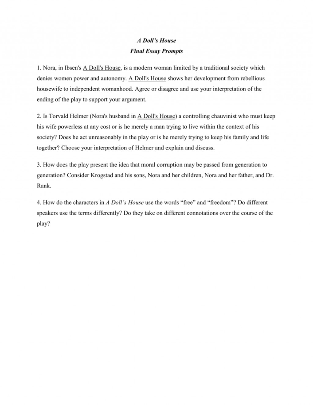 002 Essay Example 008012039 1 Dolls Breathtaking A House Doll's Titles Act 2 Discussion Questions Topics Large