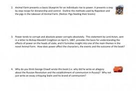 002 Essay Example 008021219 1 Power In Animal Wonderful Farm And Corruption Control