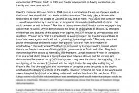 002 Essay Example 97894 Metropolis And Video Essaypodcast Fadded41 Impressive 1984 Thesis Topics Title Ideas