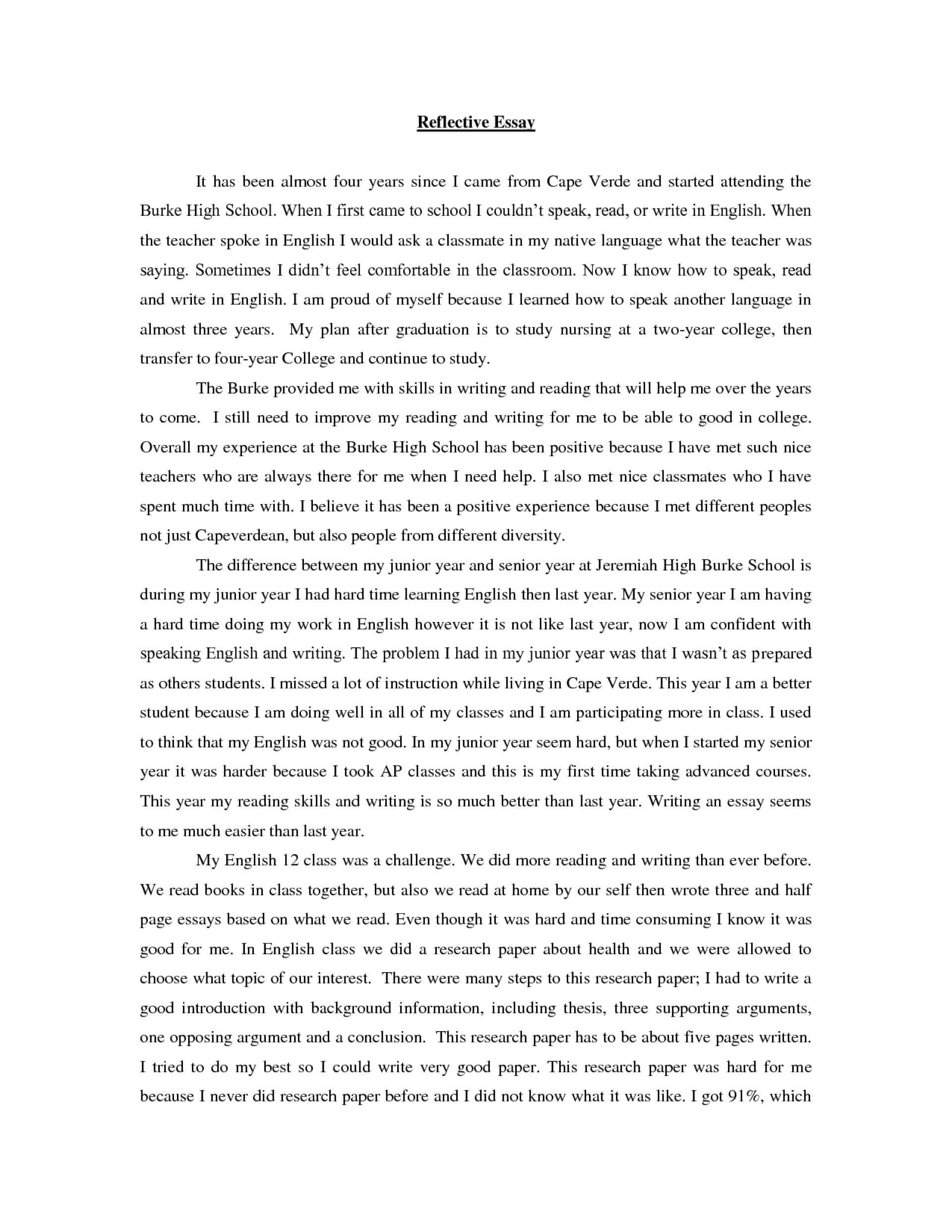 Reflective nursing essay examples