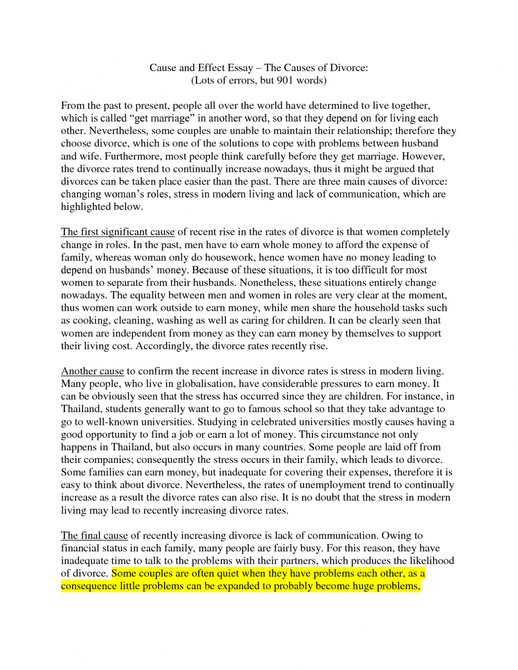 002 Essay Example Causes Of Divorce How To Write An Cause And Effect Formal Letter Sample Cv V5kyg Outline Beautiful Conclusion Pdf Rate Full