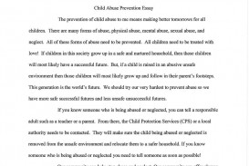 002 Essay Example Child Abuse Template Don Quixote Persuasive Millie Breathtaking