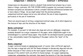 002 Essay Example Compare And Contrast Dog Excellent Cat Comparison Between Cats Dogs Pet