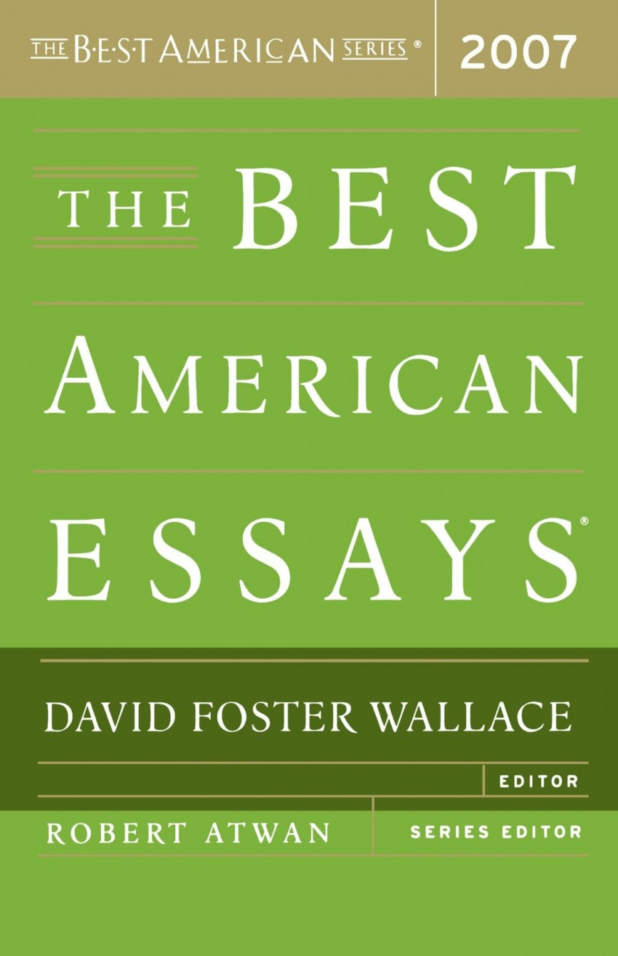 002 Essay Example David Foster Wallace Singular Consider The Lobster And Other Essays Pdf Ranked