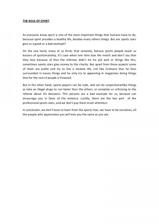 Favorite sport essay
