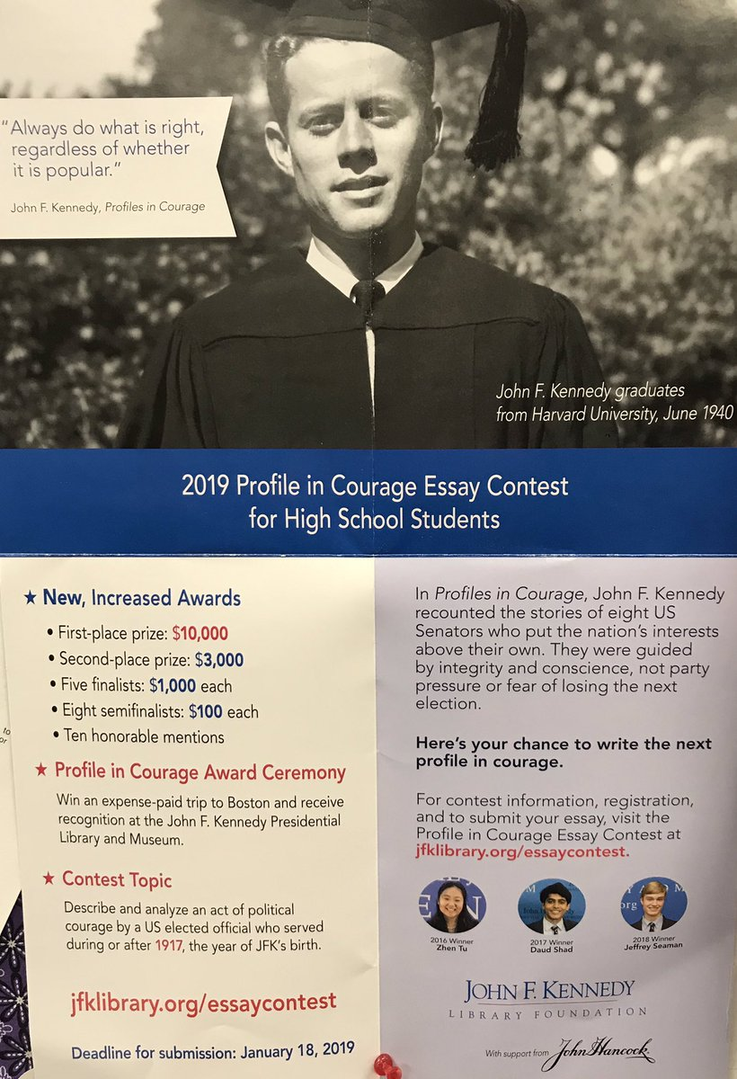 002 Essay Example Ds7py3au4ae1pv3 John Kennedy Profile In Courage Staggering F Contest 2017 Full