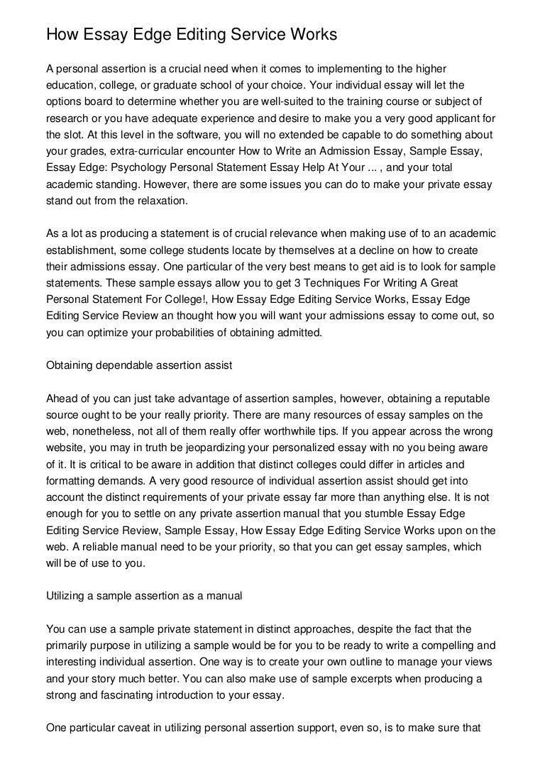 002 Essay Example Essayedgepsychologypersonalstatementessayhelpatyour Phpapp02 Thumbnail Unusual Edge Essayedge Personal Statement Review Pricing Full