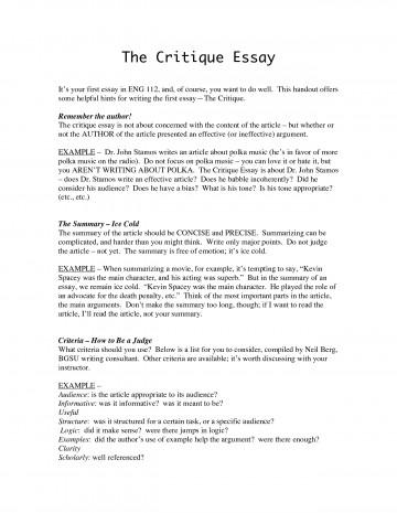 Evaluate definition essay