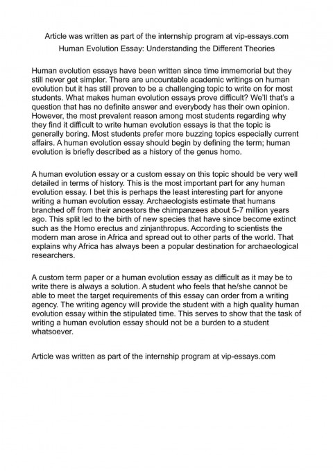 002 Essay Example Evolution Outstanding Ap Biology Exam Conclusion Human Titles 480