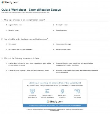 002 Essay Example Exemplification Quiz Worksheet Archaicawful Good Topics Conclusion Illustration 360