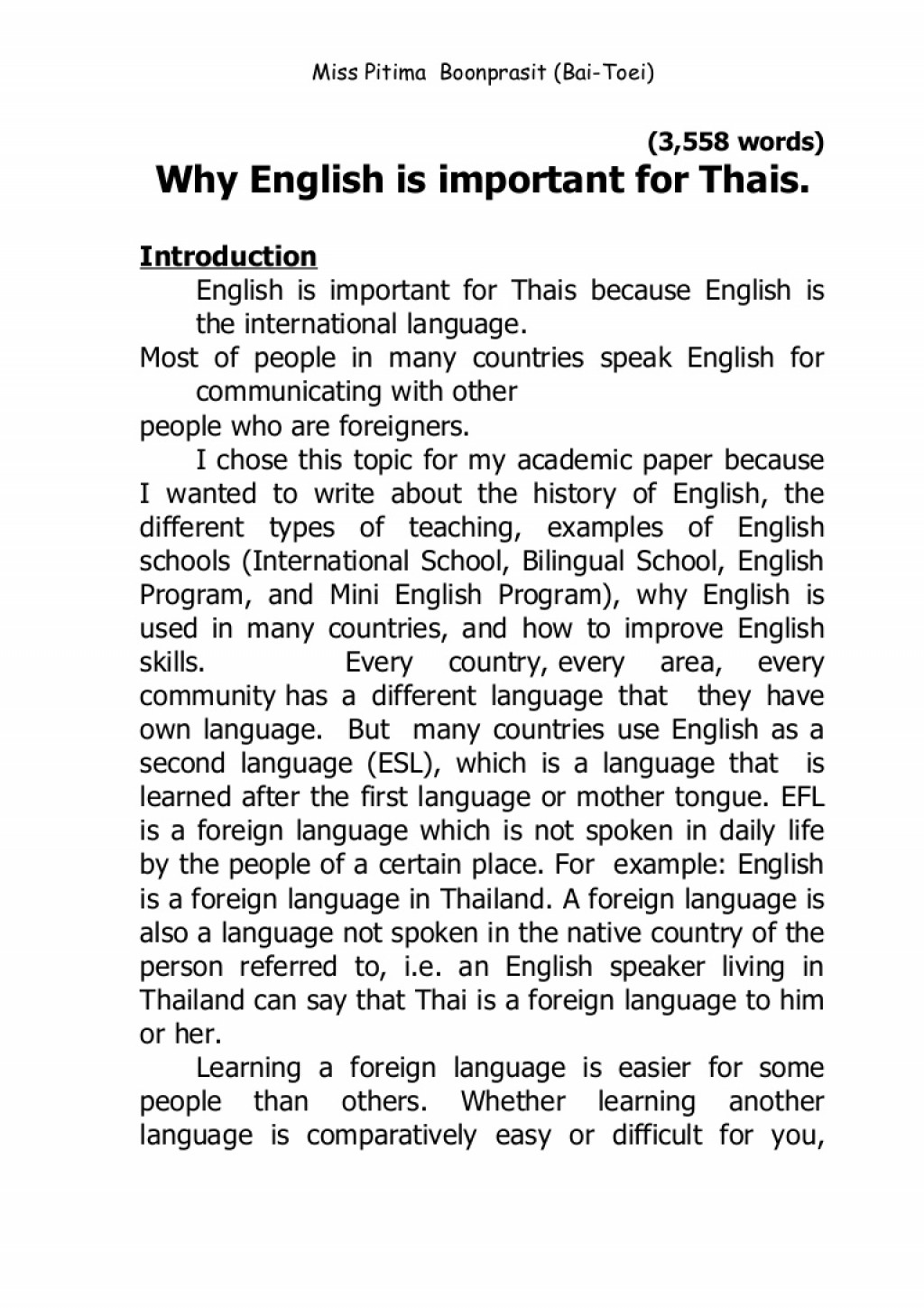 002 Essay Example Finalpaper Phpapp01 Thumbnail Importance Of Sensational Writing In English Education Skills To Students Large