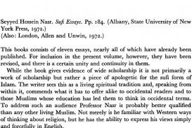 002 Essay Example Firstpage S003441250000785xa Sufi Singular Essays Seyyed Hossein Nasr Pdf