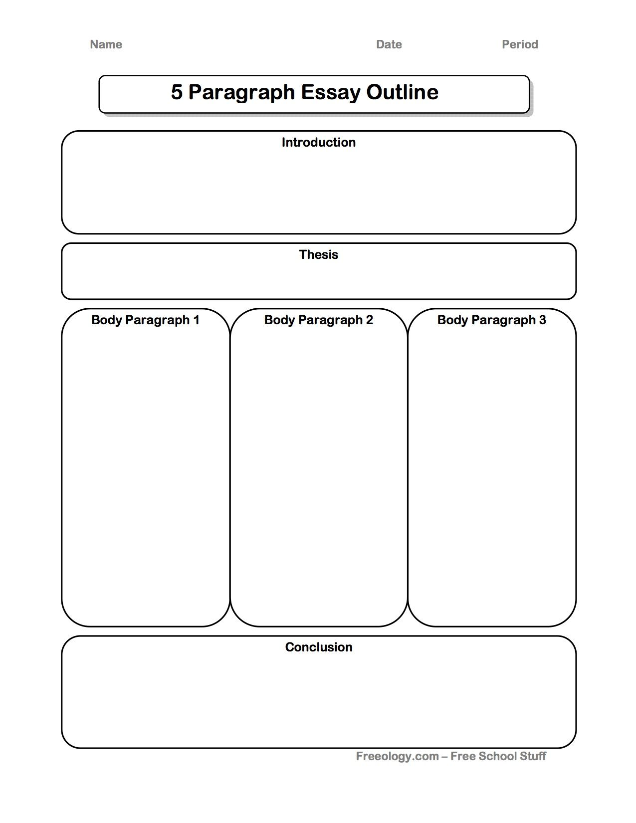 002 Essay Example Five Paragraph Graphic Wonderful Organizer 5 Middle School Doc Full