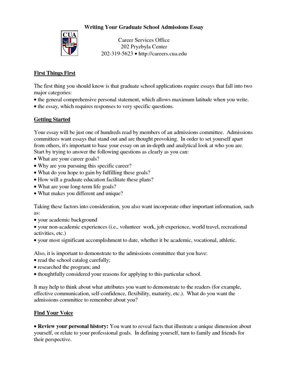 002 Essay Example Free Sample For Graduate School Admission Formidable Pdf 960