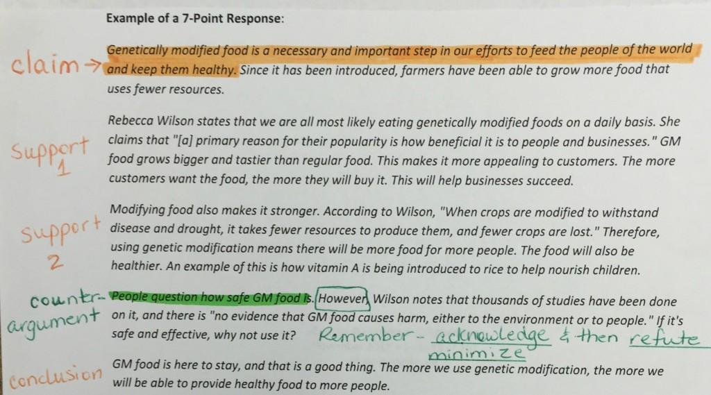 002 Essay Example Gmo Argumentative Response Wondrous Genetically Modified Crops Organisms Food Large