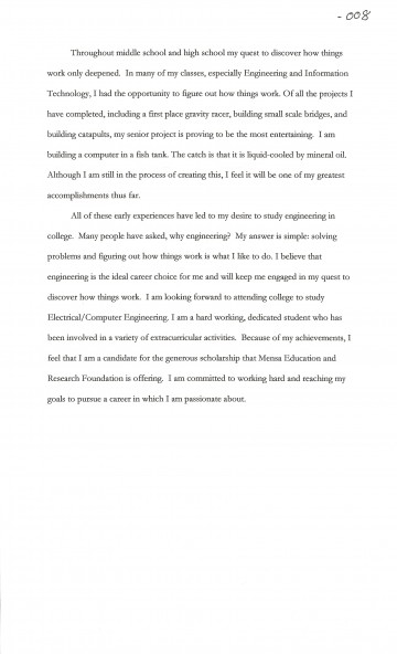 002 Essay Example Goals Joshua Cate Awesome Mba Consulting Academic For College Sample 360