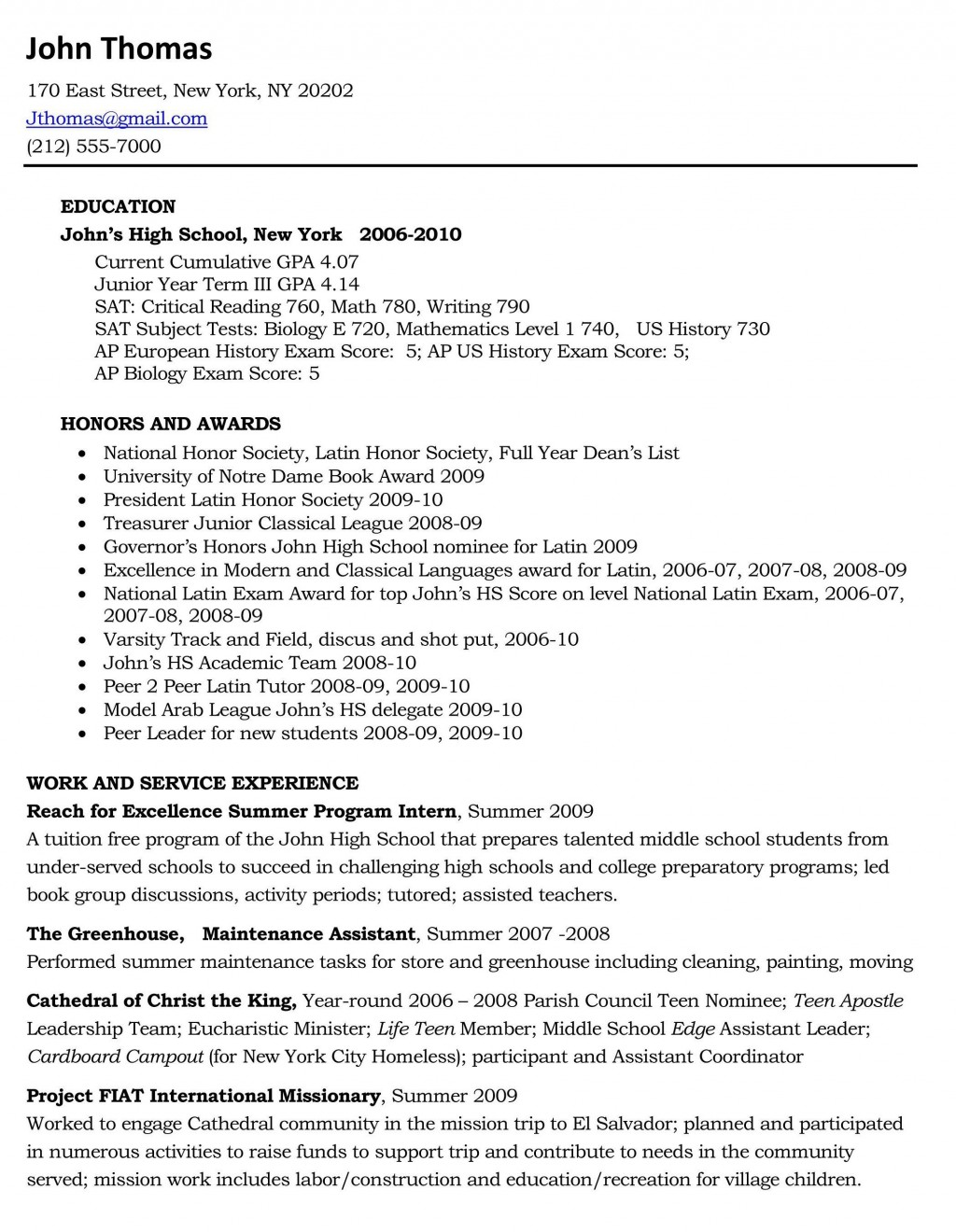 002 Essay Example High School Experience Free Dreaded Large
