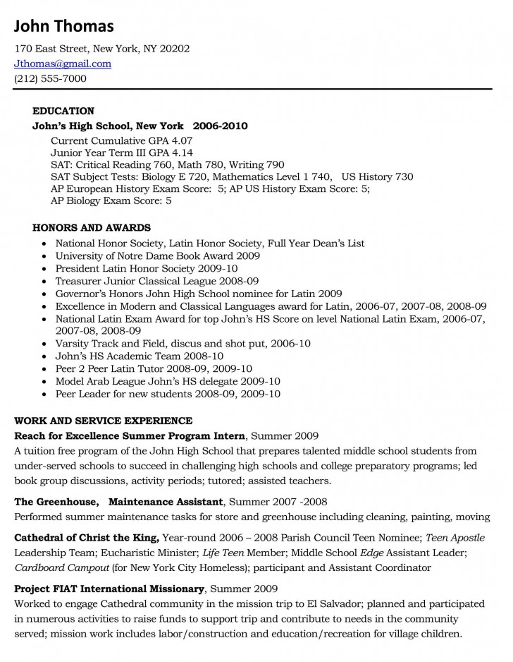 002 Essay Example High School Experience Free Dreaded 728