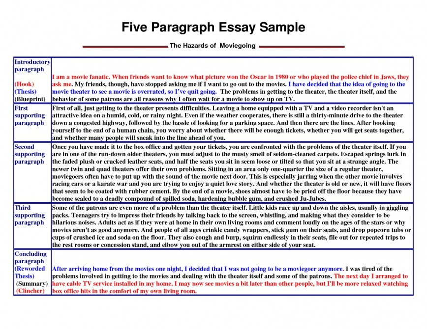 002 Essay Example How To Write Unbelievable A 5 Paragraph Format Middle School