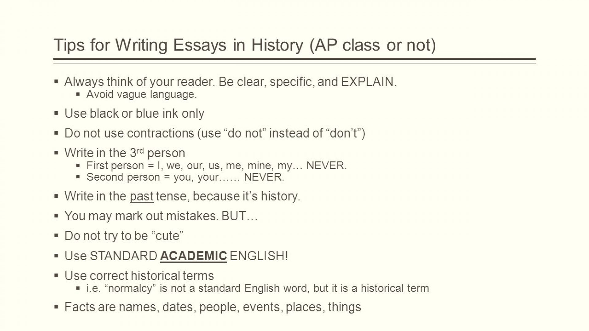 002 Essay Example How To Write Long The Question Ppt Video Online Download For Ap World Hi Fast Proposal Apush With Little Information Us History In One Night Dreaded A Periodization Good Comparative 1920