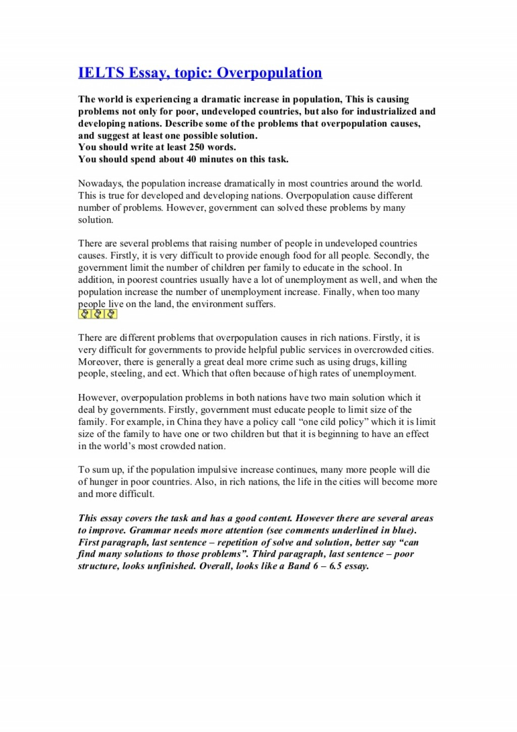 002 Essay Example Ieltsessayoverpopulation Phpapp01 Thumbnail Cause And Effect Of Remarkable Overpopulation Large