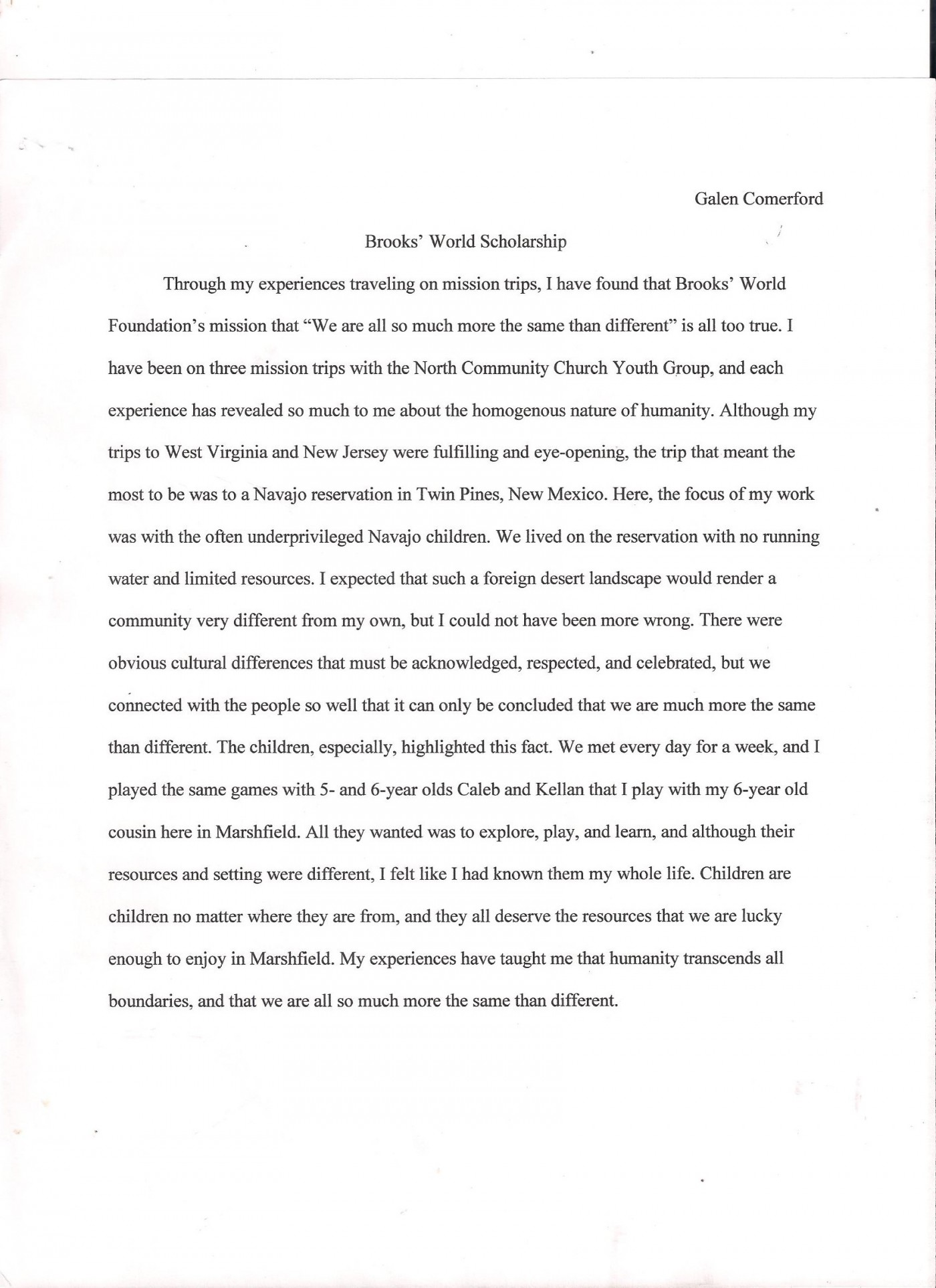 Personal essays on divorce