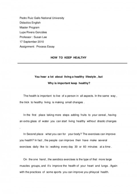 essay example importance of healthy living