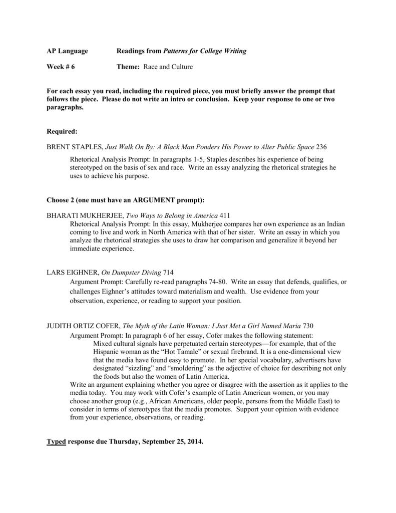002 Essay Example Just Walk On By 009418563 1 Frightening Rhetorical Analysis Brent Staples 50 Essays Main Idea Full