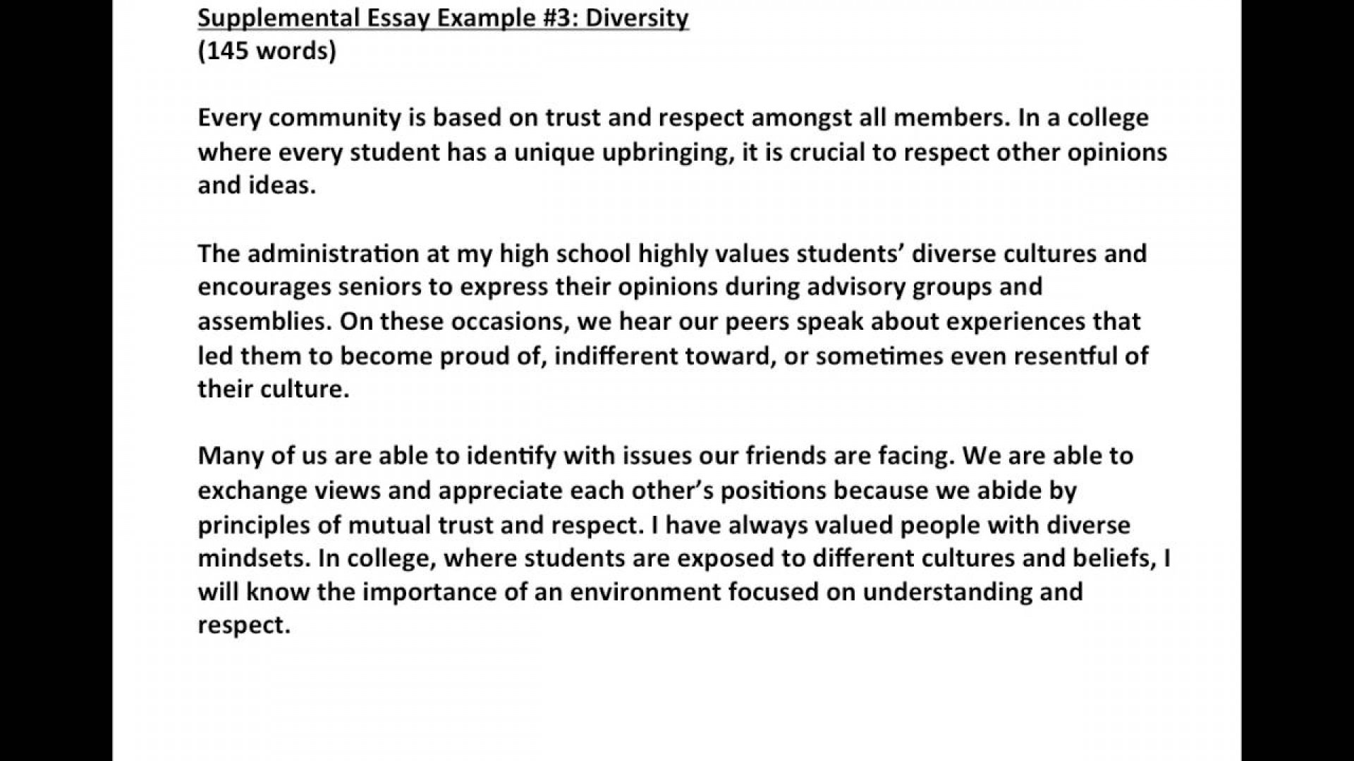 Downside of diversity essay