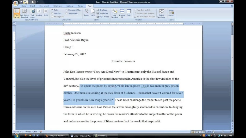 002 Essay Example Maxresdefault How To Cite Poem In Outstanding A An Put Block Quote Mla Properly Apa Large