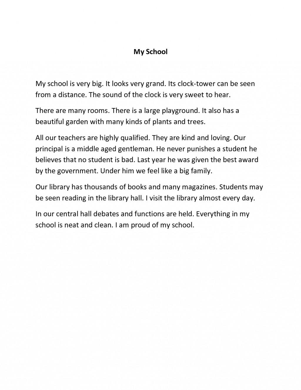 002 Essay Example My School Amazing Dream For Class 10 In Urdu 1 3 Marathi Large
