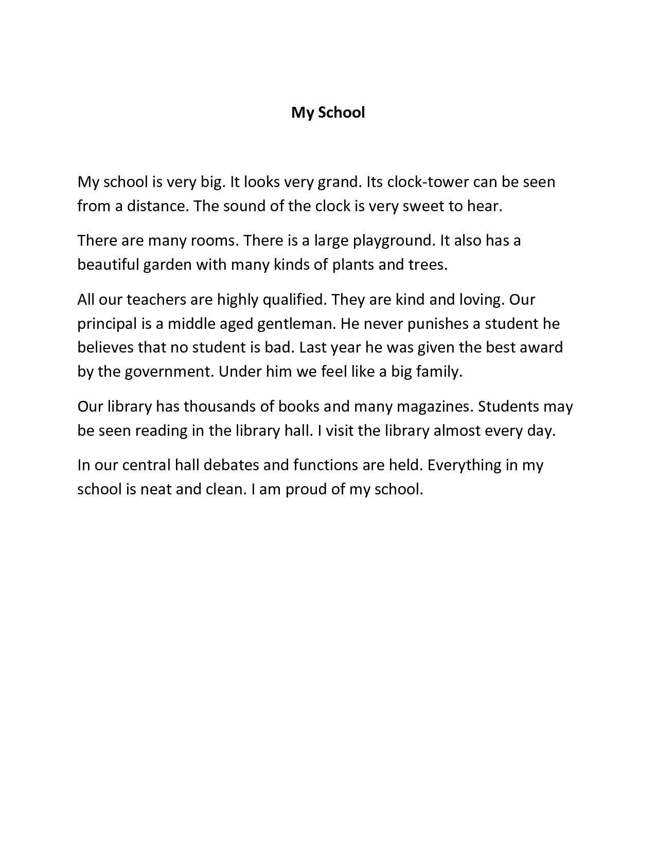 002 Essay Example My School Amazing Dream For Class 10 In Urdu 1 3 Marathi Full