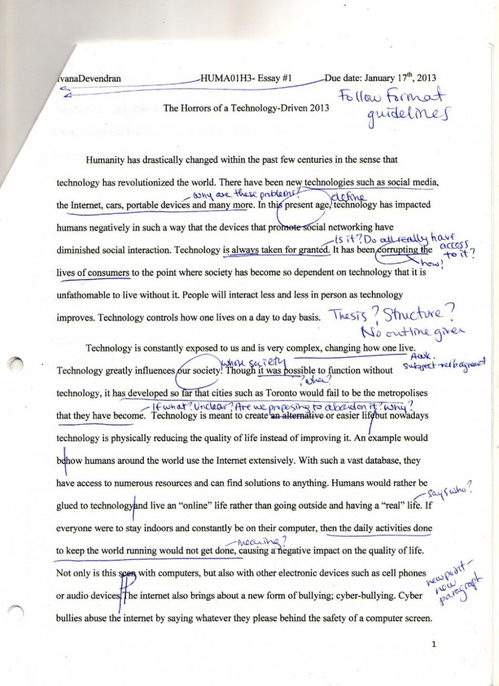 002 Essay Example Negative Effects Of Technology Topics On Humanities Positive I And Causes Unbelievable Short Communication Information Large