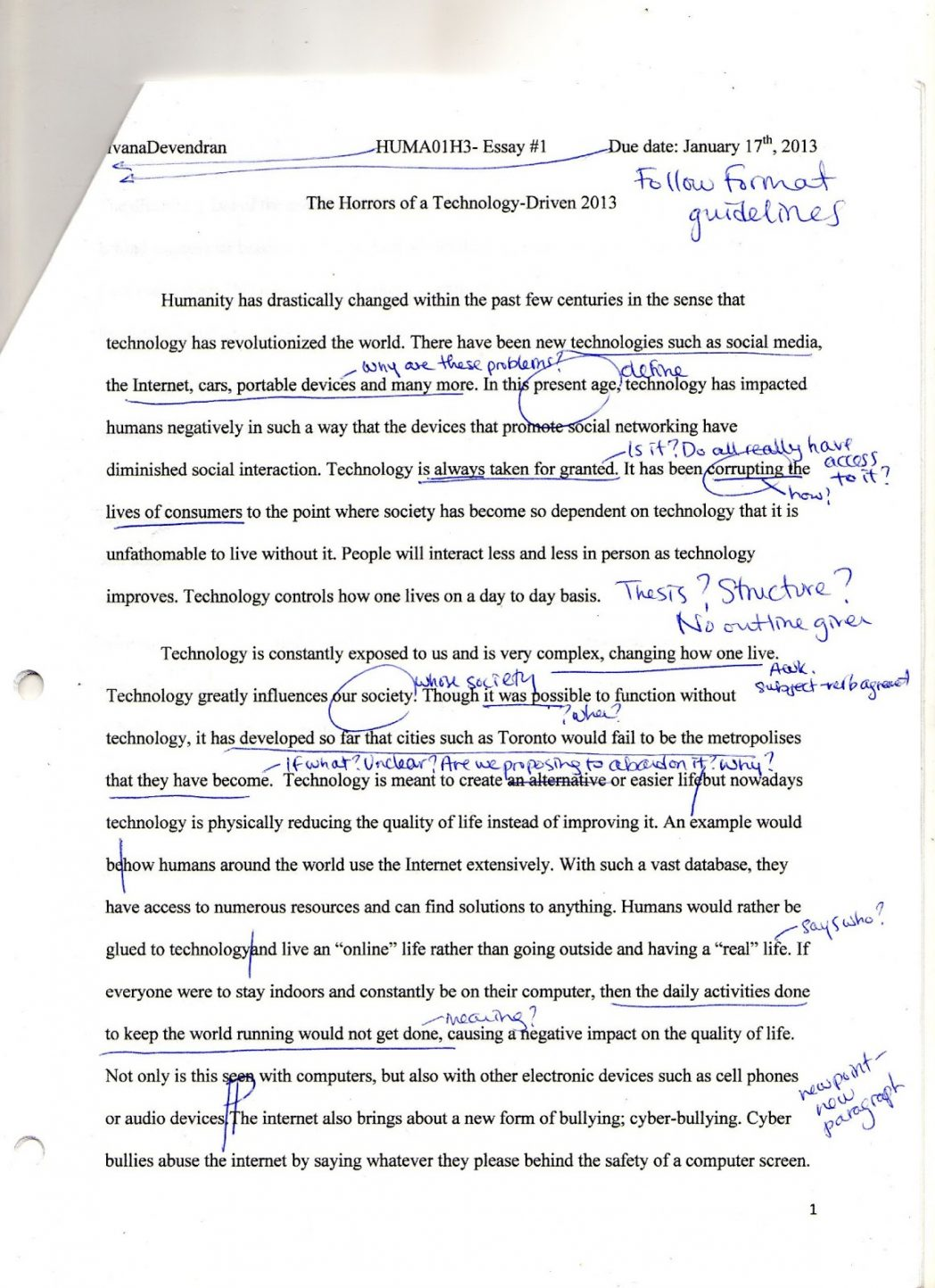 002 Essay Example Negative Effects Of Technology Topics On Humanities Positive I And Causes Unbelievable Short Communication Information Full