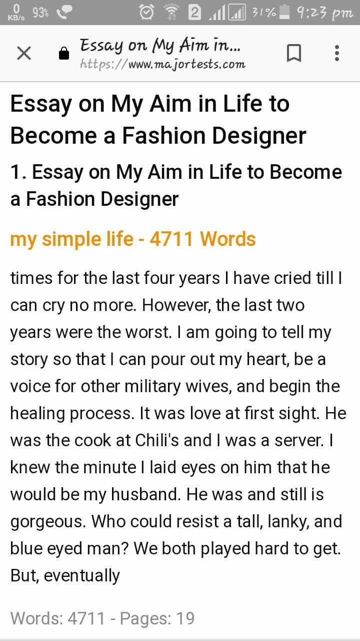 002 Essay Example On Fashion Designing Thatsnotus