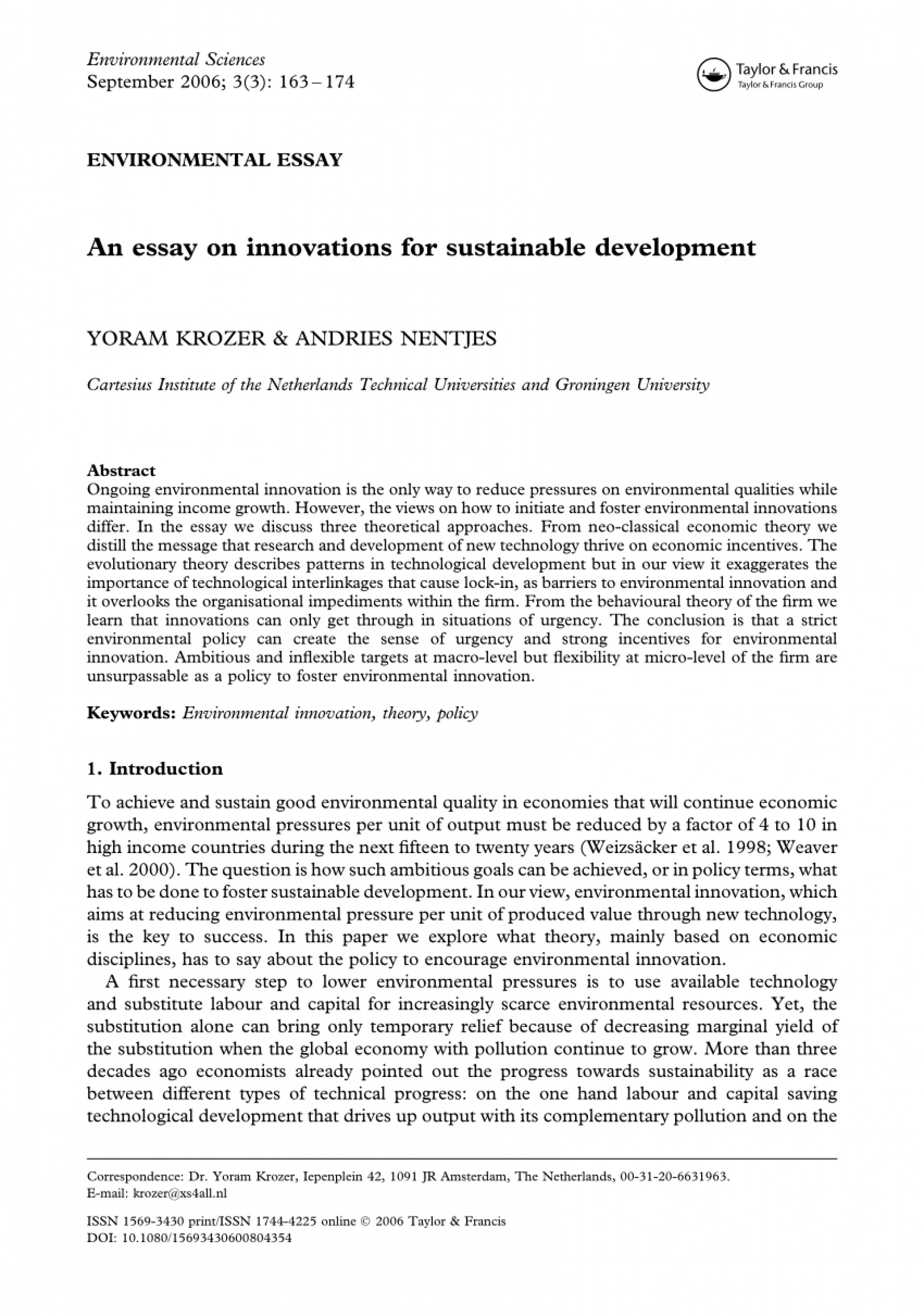 002 Essay Example On Sustainable Development And Environment Shocking Conservation 1920
