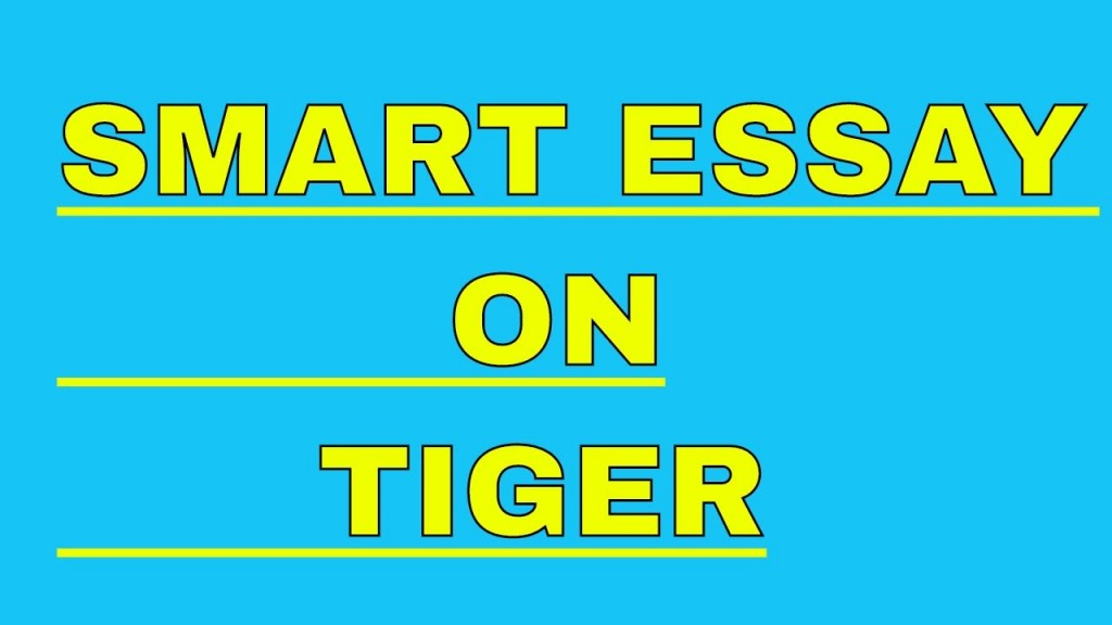 002 Essay Example On Tiger Astounding Shroff Hindi For Class 1 National Animal In Large