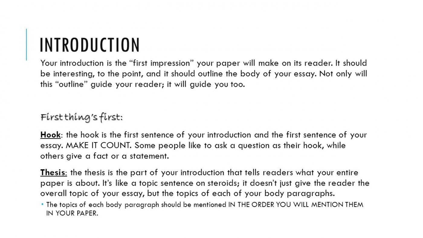Examples of starting an essay