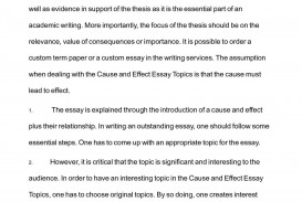 002 Essay Example P1 Examples Of Cause And Effect Rare Topics Writing Prompts