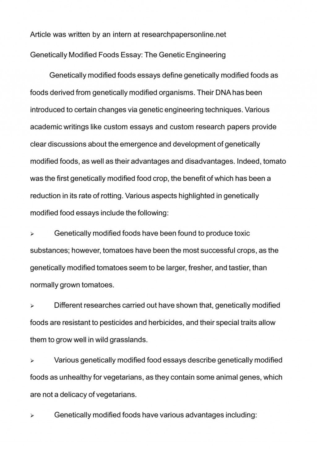 002 Essay Example P1 Genetically Modified Staggering Food Title Pdf Crops Ielts Large