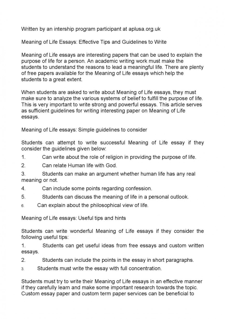 002 Essay Example P1 On Meaning Of Beautiful Life Reflective The Questions About