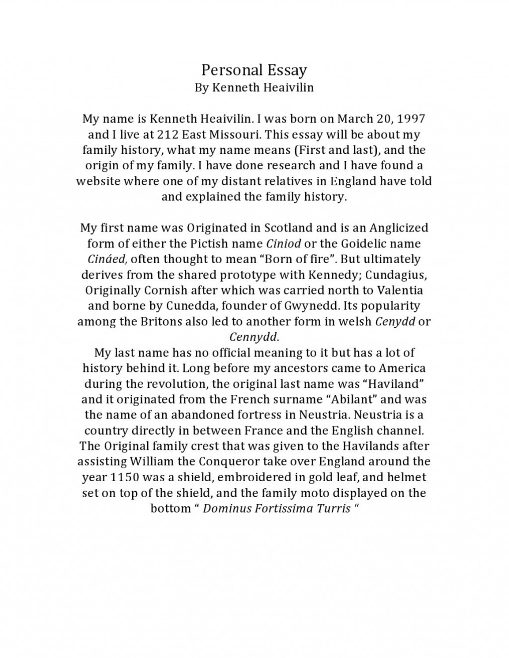 002 Essay Example Page 1 My Stunning Name Conclusion Esperanza Large