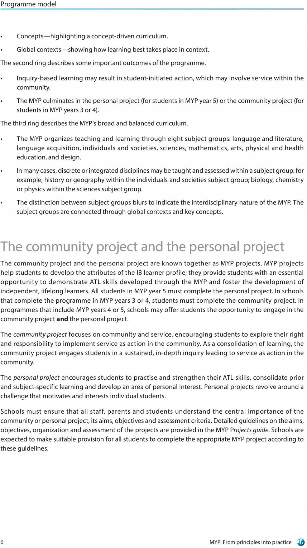 002 Essay Example Personal Project Guide Myp From Principles Into Practice For Use September Exceptional Large