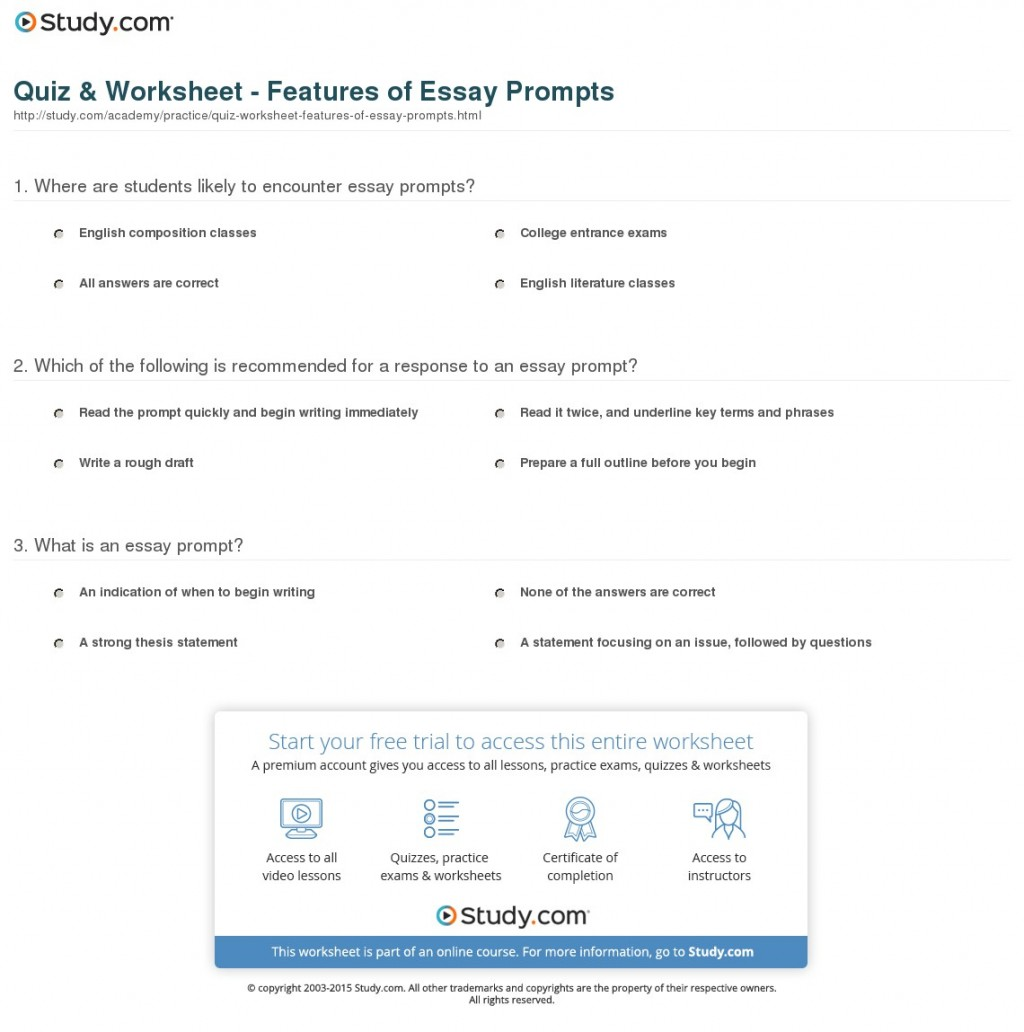 002 Essay Example Prompt Definition Quiz Worksheet Features Of Fascinating Large