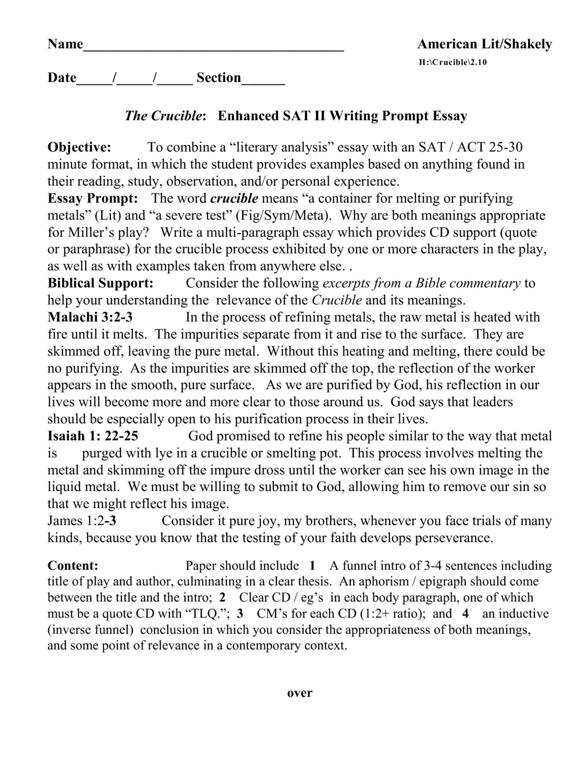 002 Essay Example Sat Questions Examples Sample L Staggering List Exam 1920